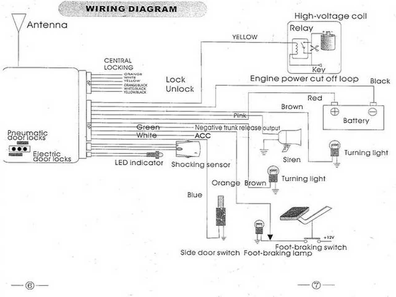 Alarm Wiring Diagram On Prestige Car Alarm Wiring Diagram For Honda