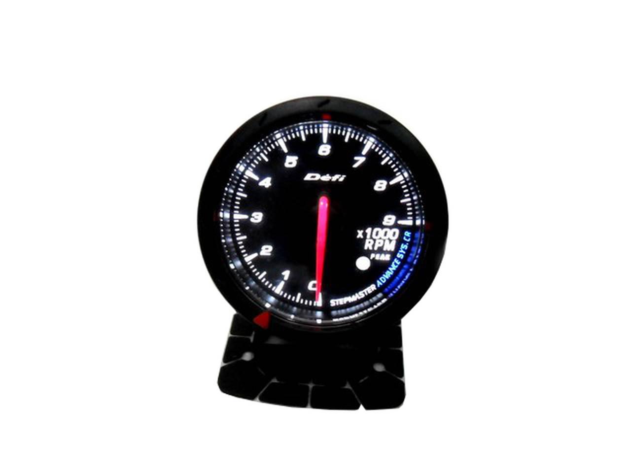 Blue Led Meter : Jdm black face non smoke tachometer car gauge meter rpm