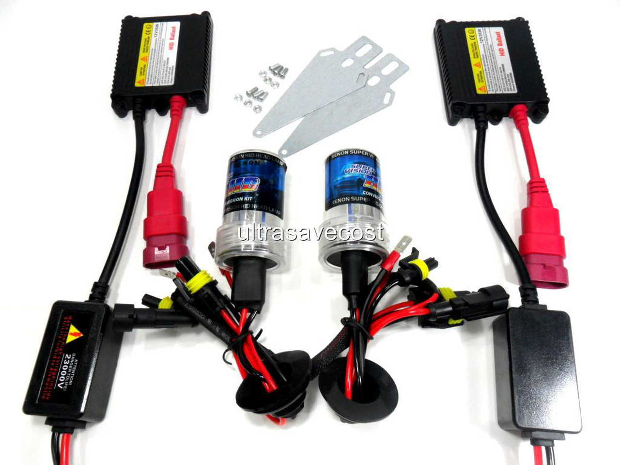 Details about New Car 35W H4 H4-2 Xenon HID Conversion Kit Slim Ballast on