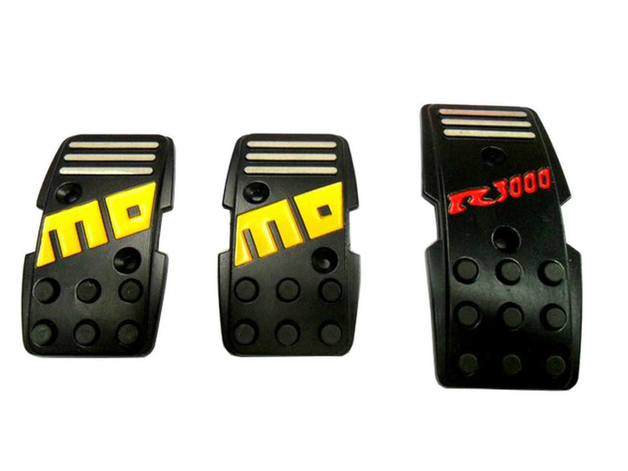 Momo Style R3000 Aluminium Non Slip Sport Pedal Brake Pad Covers Manual Car 3pc