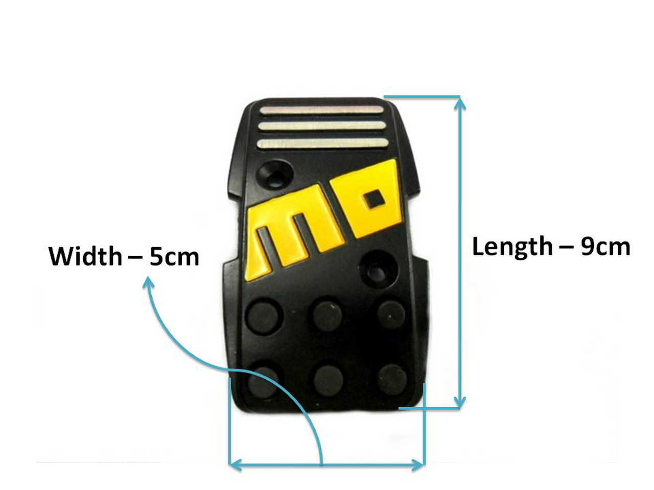 Momo Style R3000 Black Aluminium Non Slip Sport Pedal Brake Pad Cover Manual Car