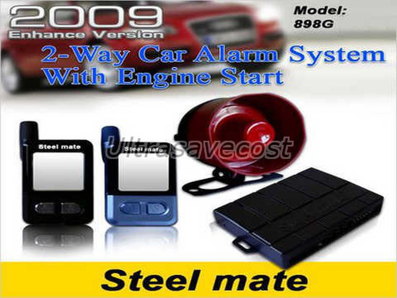 03 new steel mate 898g 2 way lcd car alarm remote engine start ebay steelmate 838g wiring diagram at eliteediting.co